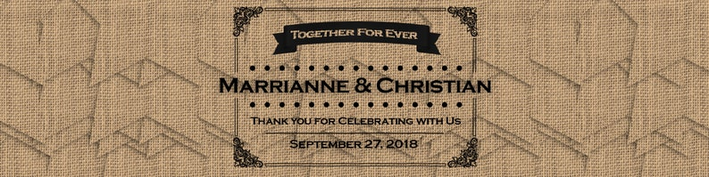 Burlap Rustic Wood I Do BBQ  Hearts 100 Custom Wedding Water Bottle Labels per order or More 50th 25th Anniversary,Bridal Shower