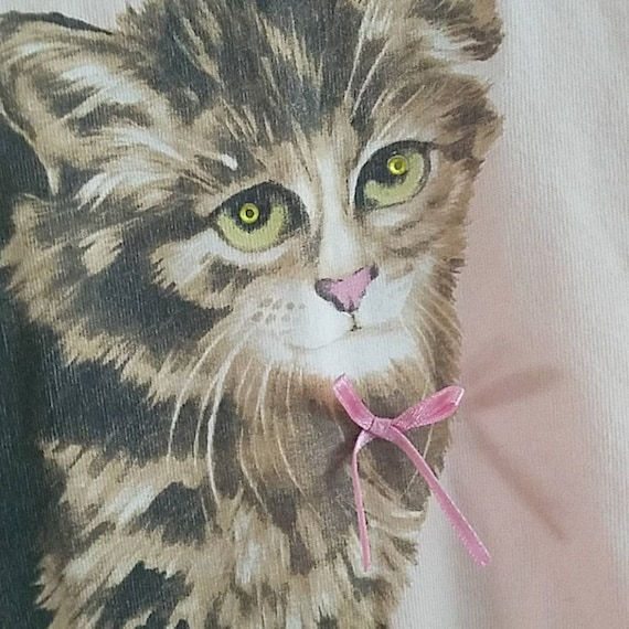 Girl Shop Pink Kitten Baby Tee