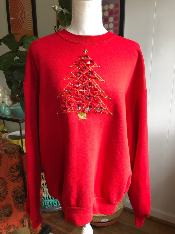 Vintage 1990's Christmas Sweatshirt - image 1