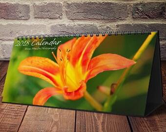 Best Seller, Desktop Calendar, Desk Calendar, Small Desk Calendar, 2018 Desk Calendar, 2019 Calendar, Monthly Calendar, Floral Calendar