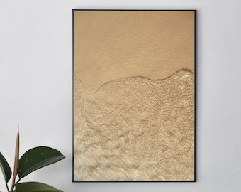 Beach Photography | Sand and Water | Neutral | Nature | Lake Michigan