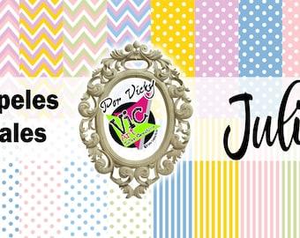 Juliana digital paper / Papeles Digitales / Imprimibles Juliana