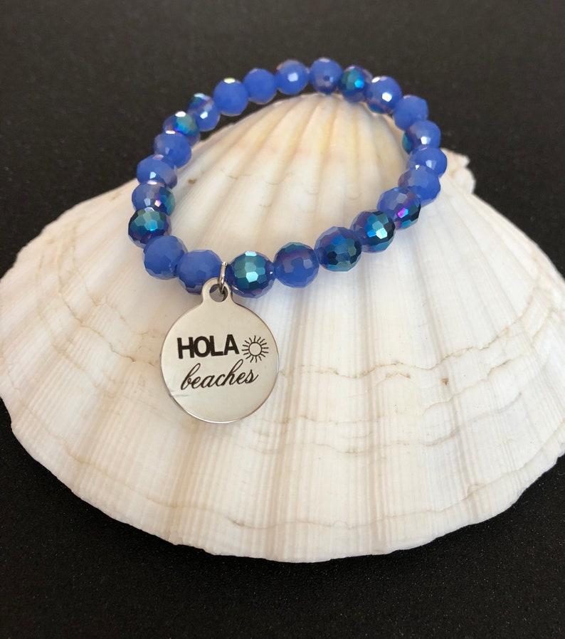 inappropriate bracelet quote bracelet beachy bracelet pun bracelet Hola Beaches Bracelet Hola Beaches Jewelry beach bracelet summer