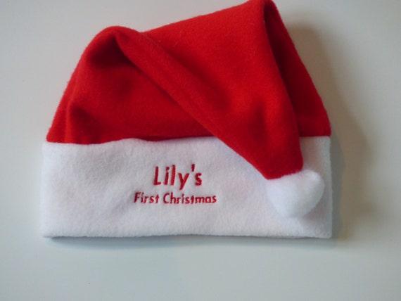 b2c91c4a8d8 Personalised First Christmas Santa Hat - Baby Santa Hat