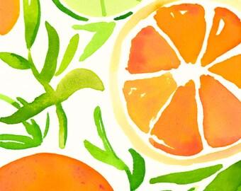 Orange Slices Note Cards
