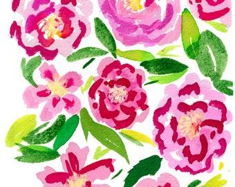 Camellias Print
