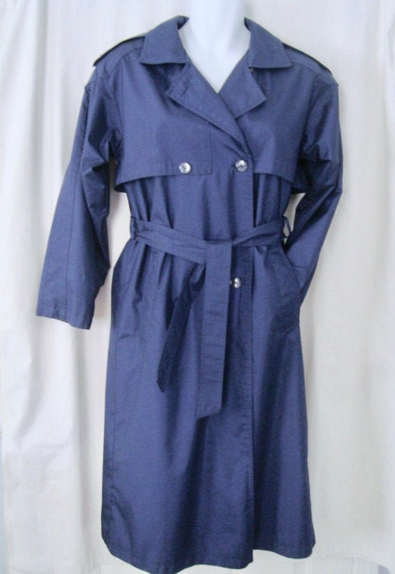 Womens WORTHINGTON Navy Blue Belted Waterproof Tre