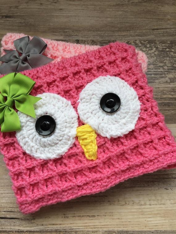 Baby Owl Waffle Hat Pattern Owl Hat Pattern Etsy