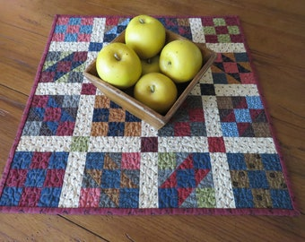 Quilted Table Topper - Scrappy 9 Patch