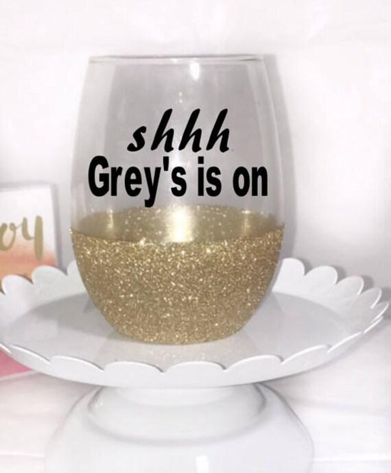 Custom Greys Anatomy Wine Glass Valentines Gifts For Best Etsy