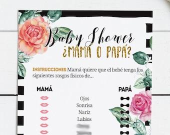 Baby Shower Kit De Juegos Baby Shower Juegos Spanish Baby Etsy