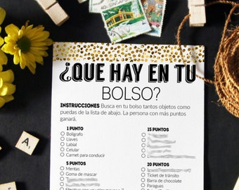 Bridal Shower Games In Spanish Bridal Shower Spanish Pack Of Etsy