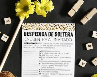 bridal shower in spanish wedding shower games shower games in spanish bachelorette party find the guest in spanish find the guest