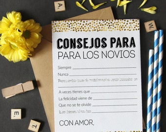 advice for the bride and groom wedding advice cards advice and well wishes advice for the bride in spanish printable game bridal shower