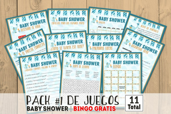 Baby Shower Games In Spanish Printables Games Printable Baby Etsy