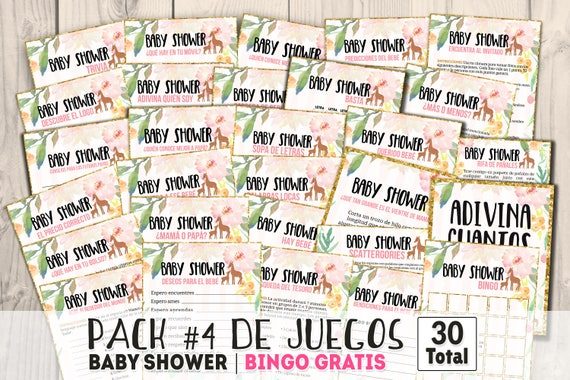 Baby Shower Games Spanish Juegos Baby Shower En Espanol Girl Etsy