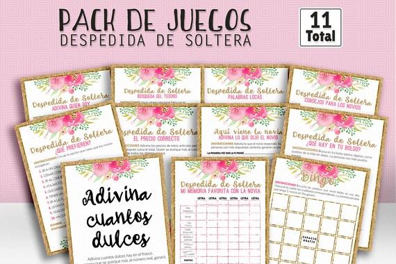 Juegos despedida de soltera ducha nupcial español despedida | Etsy