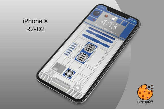 R2 D2 Starwars Iphone X Xs Max Background Wallpaper Mobile Cell Phone Personalize Lockscreen Background Ringtone