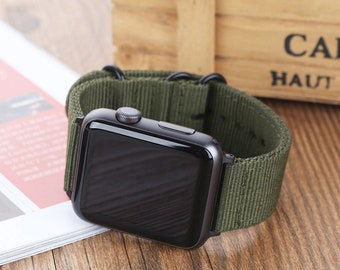 c9b6c923262 Tactical Heavy Duty Watch Strap for iWatch 38mm 42mm