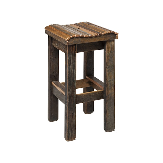 Miraculous Bar Stool Australian Reclaimed Wooden Bar Kitchen Counter Dining Stool Recycled Timber Custom Made Furniture Bralicious Painted Fabric Chair Ideas Braliciousco