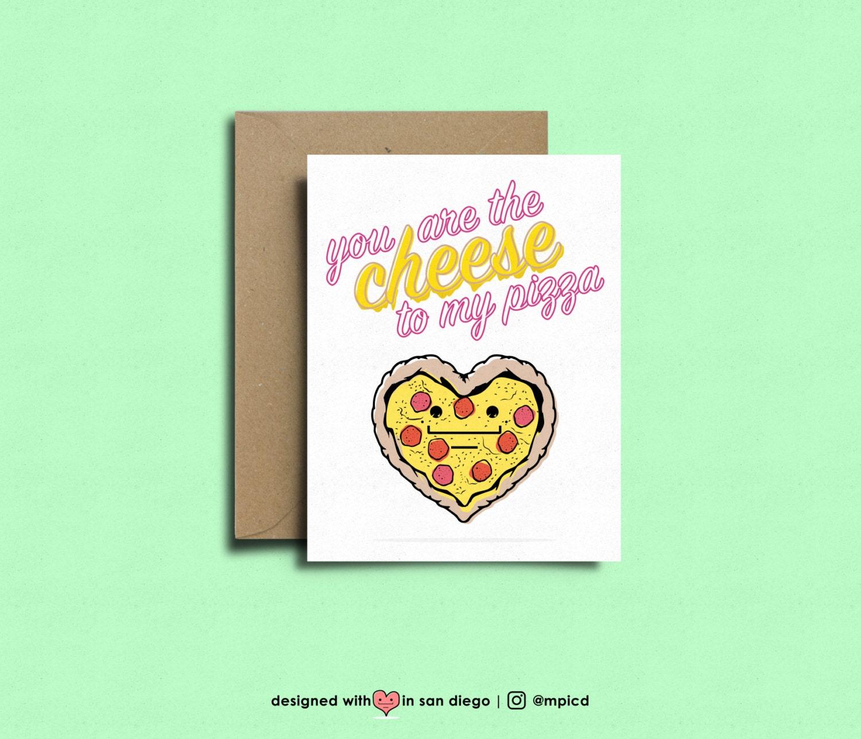 digital cheese lover valentine Printable Valentine Cheese Card