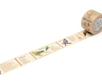 MT Bird Washi Tape, Bird Stickers, Bullet Journal, Planner Accessories, Study Planner, Ornithology,  Ornithologists, Birder, Twitcher Gift