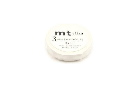 Craft Supplies 3 Roll Set Slim 3mm MT Black Matte Washi Masking Tape