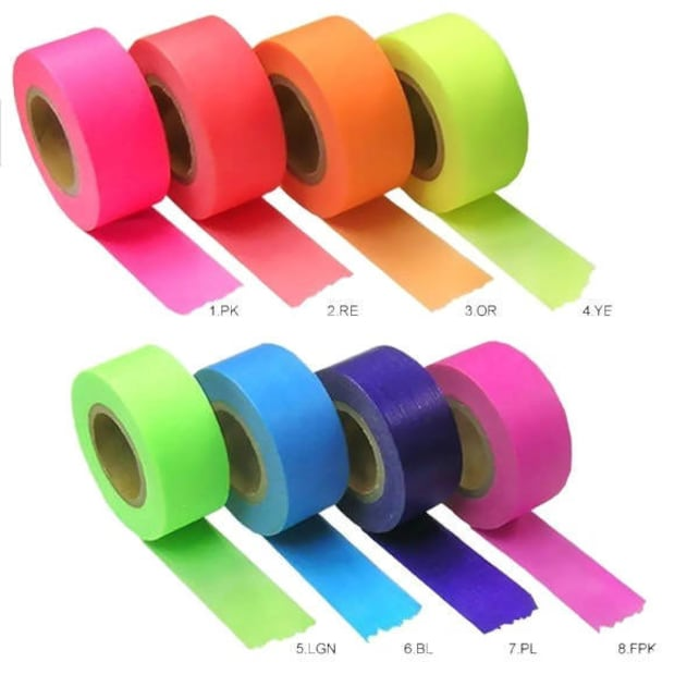 Neon Washi Tape, Rainbow Colours, Maste Masking Tape, Single Roll, Decorative Tape, Pretty Stationery, Journal Stickers, Planner Accessories