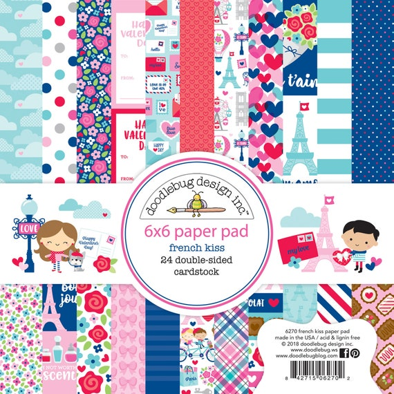 """Doodlebug Double-Sided Paper Pad 6/""""X6/"""" 24//Pkg-So Much Pun 12 Designs//2 Each"""