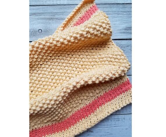 Spring Ahead Dishtowel Pattern Easy Knitting Pattern Etsy