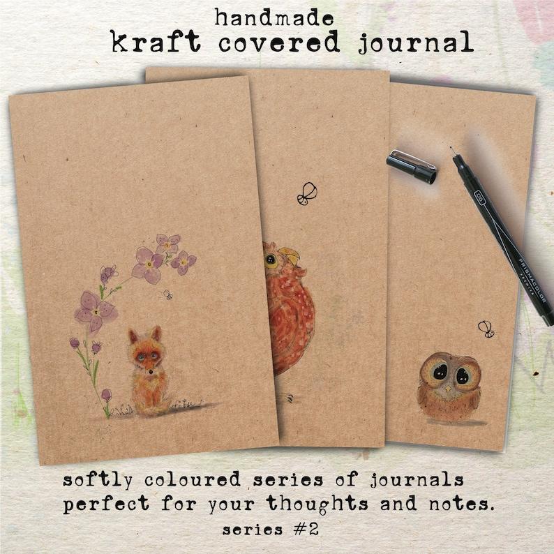 Handmade Kraft covered Journals Softly Coloured Series 2 image 0