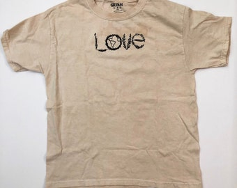 Size 10 FLAWED LOVE tea dyed