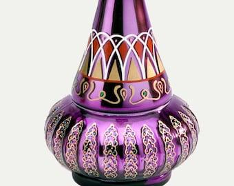 I Dream of Jeannie Bottle From Mario Della Casa Second Season Glass MIRRORED Purple Bottle!