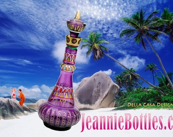 I Dream of Jeannie 2nd Season Purple Genie/Jeannie Bottle by Artist Mario AC Della Casa of JeannieBottles.com