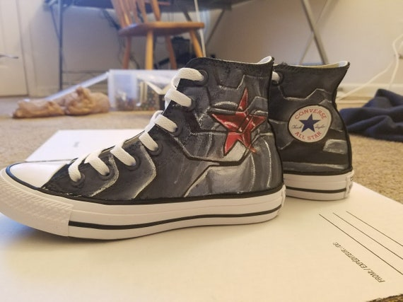Winter Soldier Adult Painted Converse Shoes