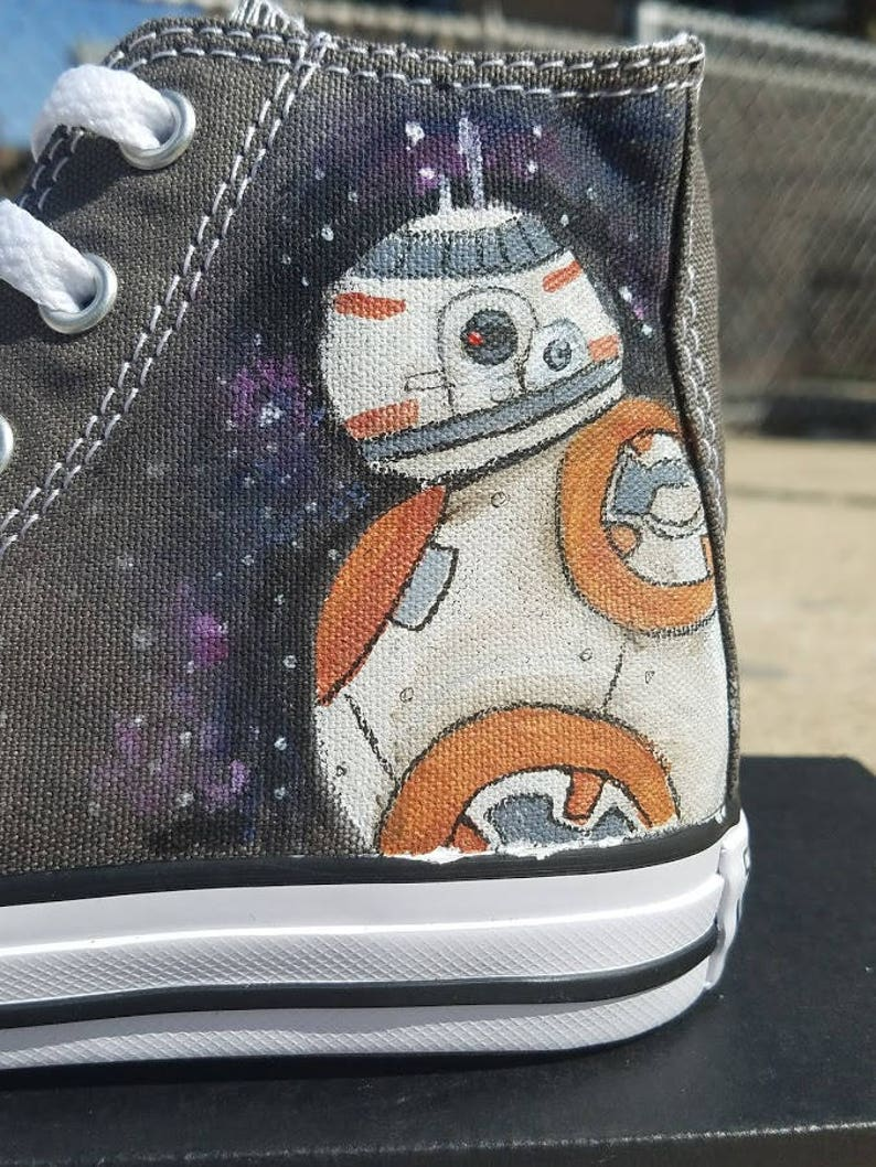 d1b3c12a620a6 Adult BB-8 Star Wars Painted Converse Shoes