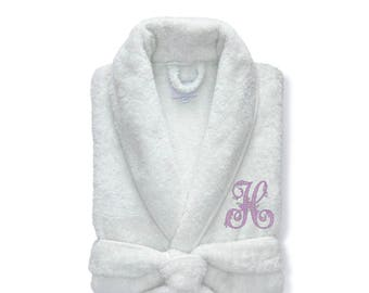 Luxe Terry Robe, White