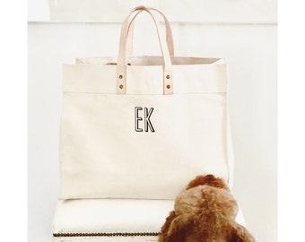 Monogrammed Box Tote