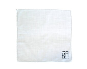Monogrammed Hemstitch Handkerchief, Men's