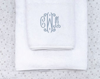 Monogrammed Hand Towel, White Terry