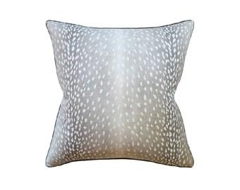 """Grey Doe Pillow, 22"""" x 22"""""""
