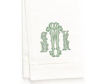 Bailey Hand Towel, White Linen