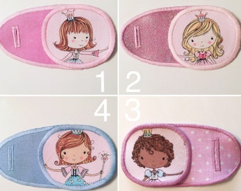 Eye patches for children's with fairy princess. Occluder, operclude, opticlude. Patch for treatment of amblyopia, lazy eye, strabismus