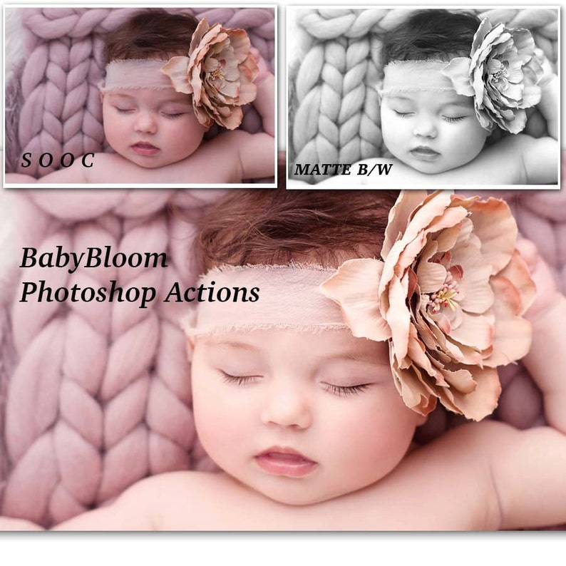Newborn/Baby/Child Photoshop Actions - Essential Collection of over 30 easy  to use PS Actions inc *FREE* Essential B/W