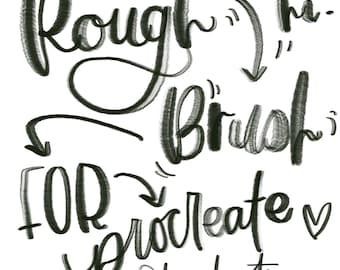 Procreate Rough Brush