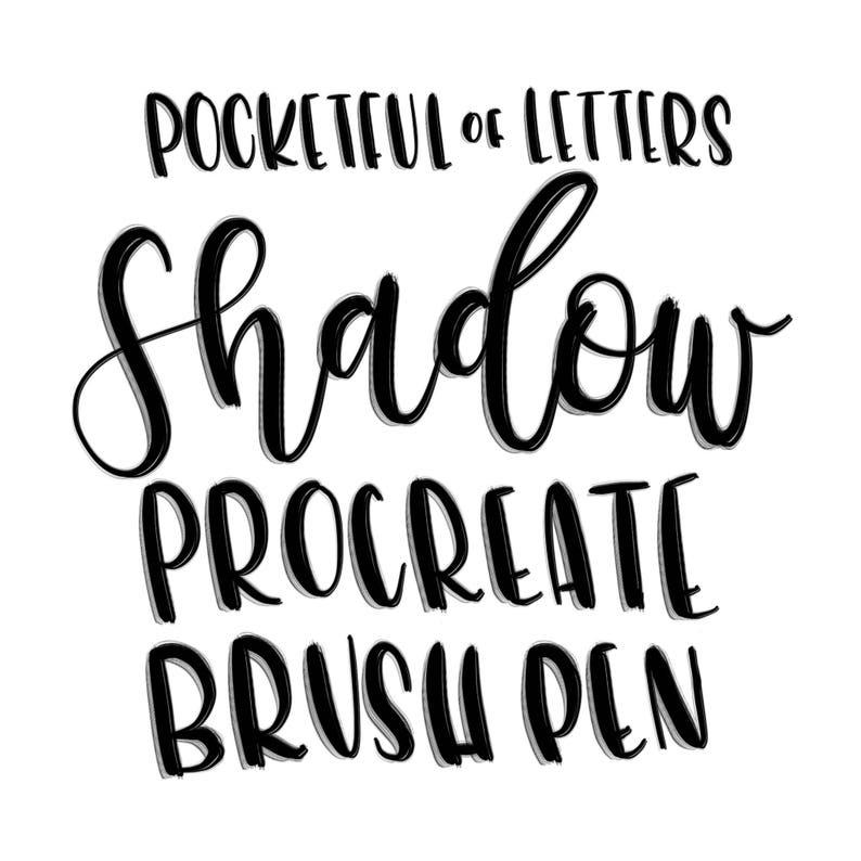 Shadow Brush Pen for Procreate image 0