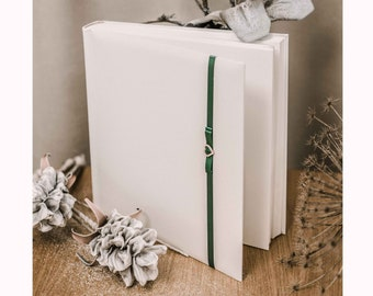 unused Florentine detail wedding album quality ivory thick paper and crinkled tissue paper per page cover linenpaper in original box
