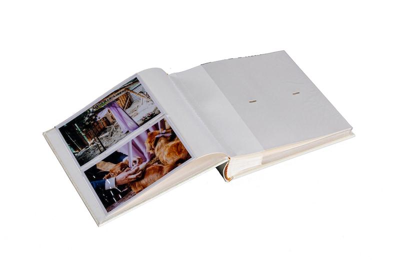 4x6 photos White wedding Album Luxury Wedding Photo Album with clear pockets