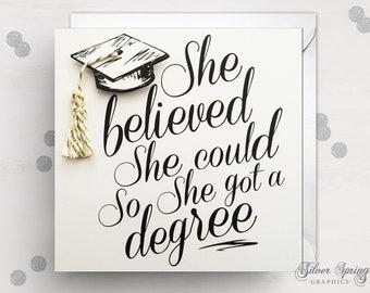 Graduation Card, Congratulations, Graduation, Graduation Day, Graduation, Degree Card, University, College, Encouragement Card, Well done