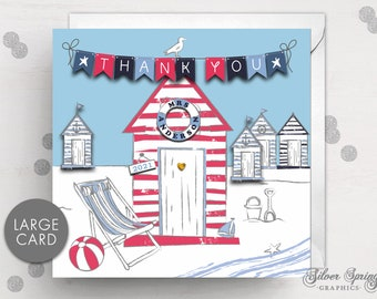 Teacher Thank You Card, Personalised Teacher Card, Class Card, Thank You, Teacher Gift, Large Card, End of Term, Teaching Assistant, Tutor